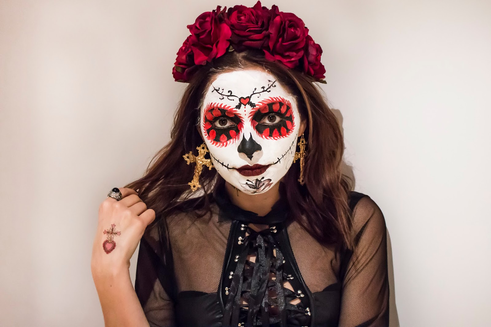 Easy day of the dead makeup tutorial whitneys wonderland whitneys wonderland uk fashion and beauty blogger shows you how to achieve a theatrical quality finish baditri Images