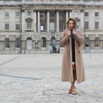 LONG FAUX-FUR CAMEL COAT AND MOJITO SHOES