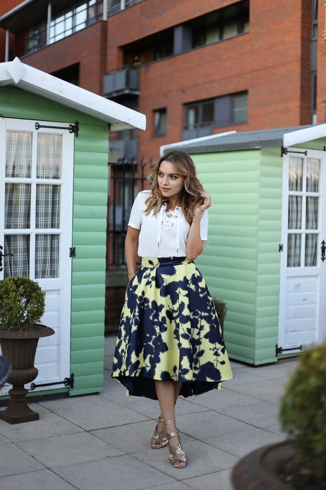 f161e2d7b3 Whitney's Wonderland UK Top Fashion Blog wears Gestuz top, Coast high low  skirt and Kurt