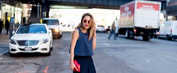 Whitney's Wonderland NYC Top Fashion Blogger wears Keepsake crop top and Elliatt pants from Revolve