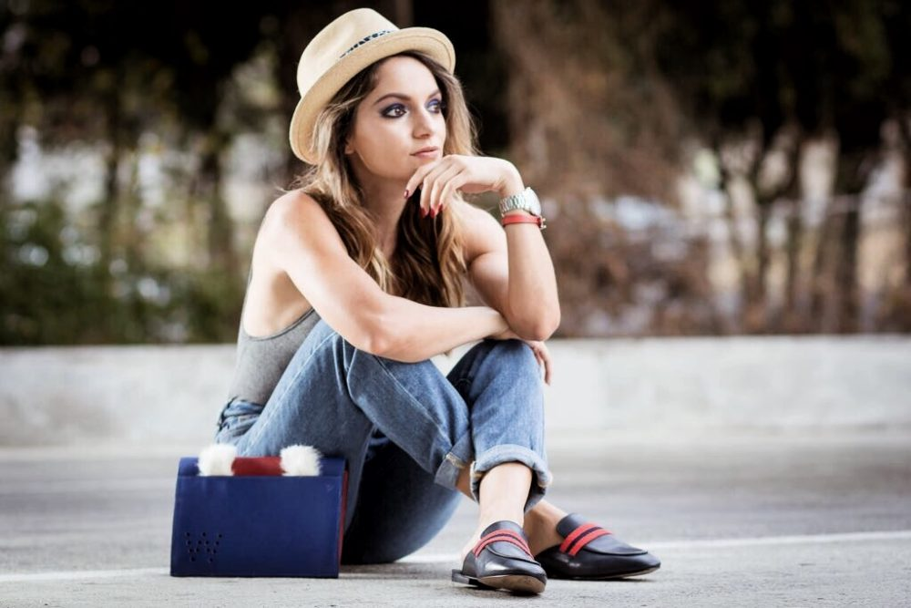 Whitney's Wonderland UK and Costa Rican Top Fashion Blogger wears Christy's panama hat, Boden espadrilles and Proud Bag
