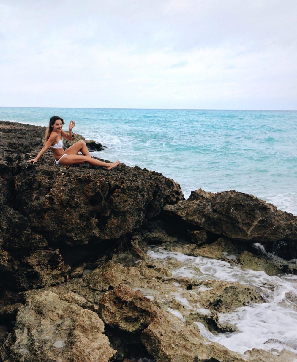 Whitney's Wonderland UK Top Fashion Blogger wearing Wildfox Couture mermaid shell bikini