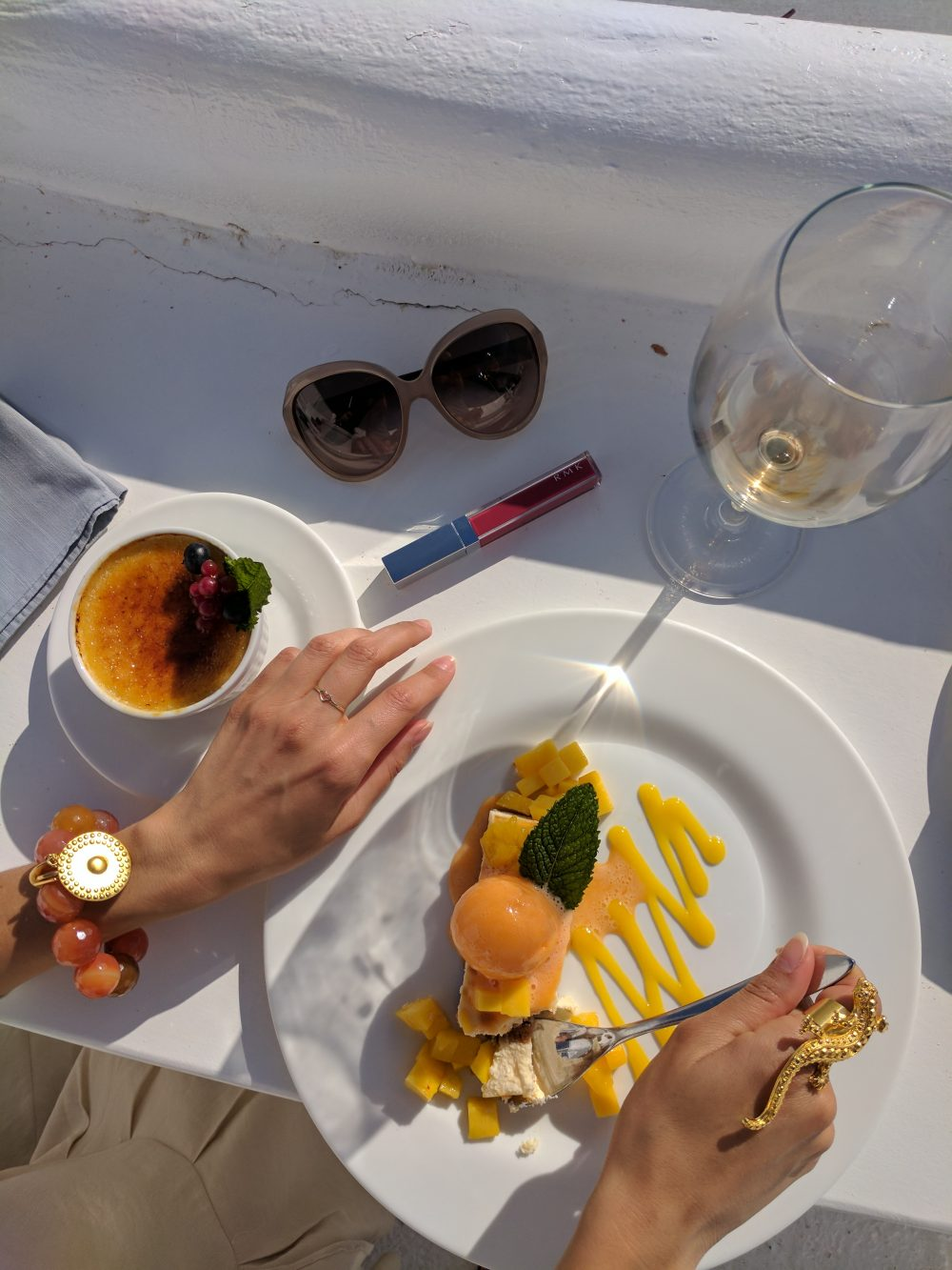 Whitney's Wonderland UK Top Travel Blogger Cotton Beach Club Ibiza desserts