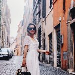WHITE LACE DRESS AND GUCCI IN ROME