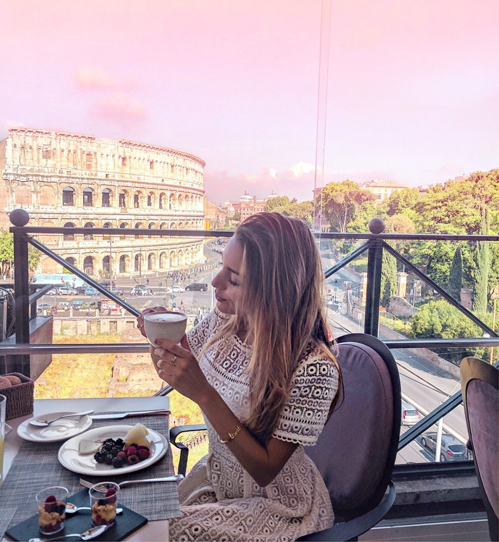 Whitney's Wonderland Top Luxury Travel Blogger Palazzo Manfredi colosseum view
