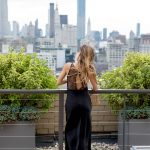 OUTLINE LONDON BLACK MAXI DRESS IN NYC ROOFTOP