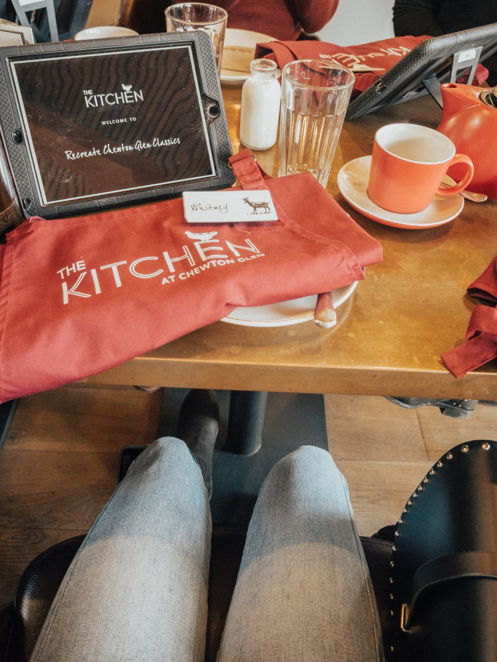 Whitney's Wonderland UK Food Blogger cooking at The Kitchen at Chewton Glen