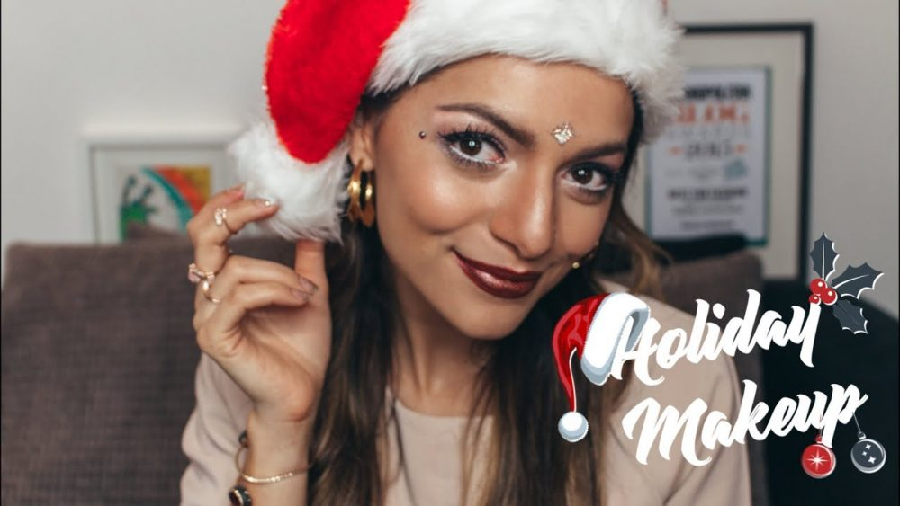 Whitney's Wonderland UK Top Beauty Vlogger shares her easy, step by step Holiday Makeup Tutorial for Christmas and the festive season