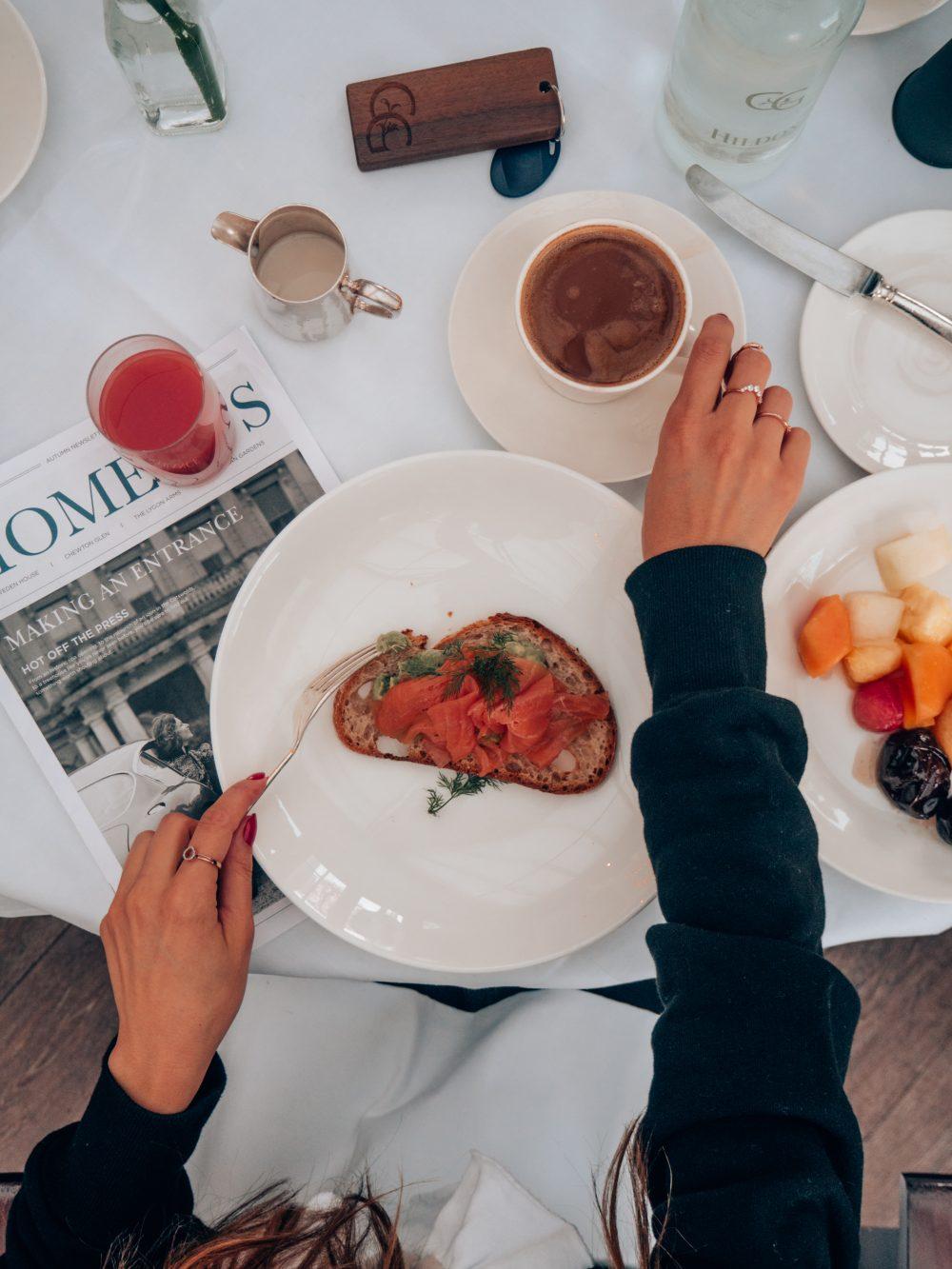 Whitney's Wonderland UK Food Blogger review of Chewton Glen breakfast